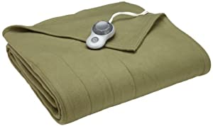 Sunbeam Quilted Fleece Heated Blanket, Twin, Ivy, BSF9GTS-R622-13A00