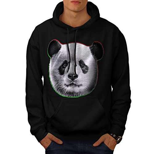 cracked-wood-panda-timber-style-men-new-black-xl-hoodie-wellcoda