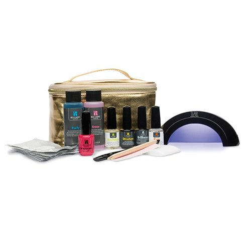 Red Carper Manicure Pro Starter kit with Gold Lamp (Red Carpet Gel Polish Purify compare prices)