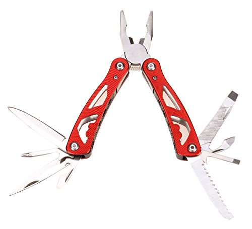 Durable Survivalist Pliers Multitool Camping Companion 13-in-1 (Red)
