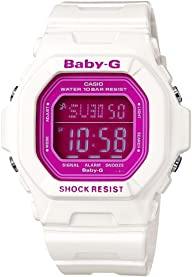 Casio Women's BG5601-7 Baby-G Square Luminous Color White Digital Watch