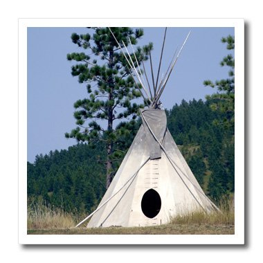 Ht_94313_1 Danita Delimont - Native American - Sd, Lakota Indian Teepee, Native American - Us42 Cmi0278 - Cindy Miller Hopkins - Iron On Heat Transfers - 8X8 Iron On Heat Transfer For White Material front-287658