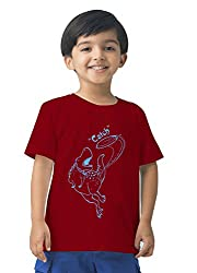 Mintees 100% Combed Cotton Boy's Graphic Print Red Colour Tshirt MBRNT-10-040_2-3Yrs
