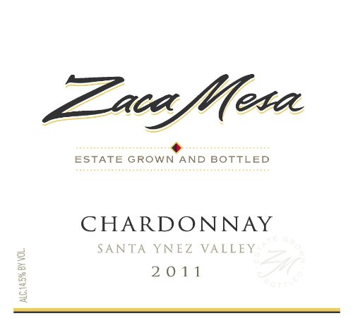2011 Zaca Mesa Winery Chardonnay Santa Barbara County, Santa Ynez Valley 750 Ml