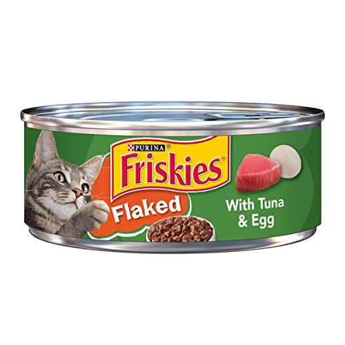 Purina Friskies Wet Cat Food; Flaked With Tuna & Egg - 5.5 oz. Can