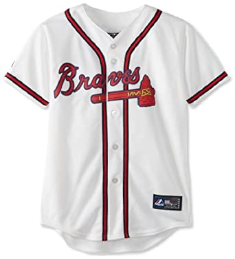 MLB Atlanta Braves Jason Heyward White Home Replica Youth Jersey, White by Majestic