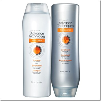 LOT of 2 Avon Advance Techniques Frizz Control Shampoo & Conditioner for All Hair Types 11.8 Fl Oz (Avon Shampoo And Conditioner compare prices)