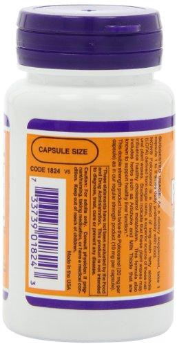 降低胆固醇,保护心脑血管健康,NOW Foods 双倍甘蔗原素 20mg*90粒图片