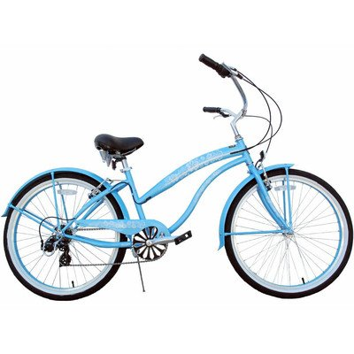 7-Speed Beach Cruiser Frame Color: Baby Blue (Ladies)