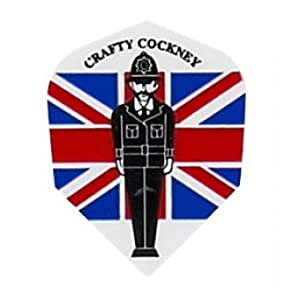 Buy 1 Set of 3 Dart Flights - M432 - Crafty Cockney British Flag Union Jack Super Metronic Standard Flights by Dart Brokers