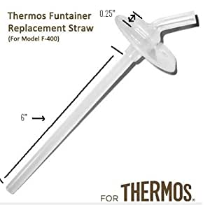 Thermos Funtainer Beverage Bottle Replacement Straw (12 Oz.)
