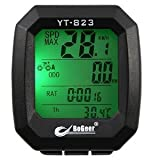 Huhushop(TM) Luminous Mountain Cycling Bike Bicycle Riding Waterproof Speedometer Odometer Odograph Computer Real-time display