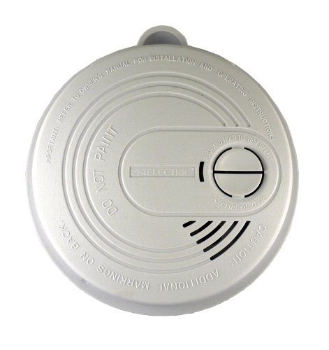 Universal Security Instruments USI-5204 120-Volt AC/DC Wired-In Ionization Smoke and Fire Alarm