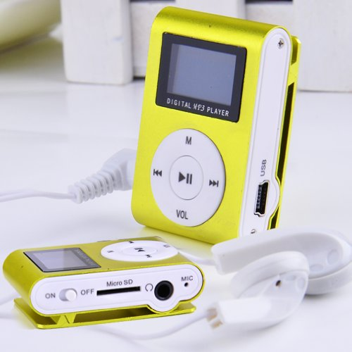 Metal Clip Digital MP3 Player FM Radio LCD Screen for 2/4/8/16GB TF Card Green