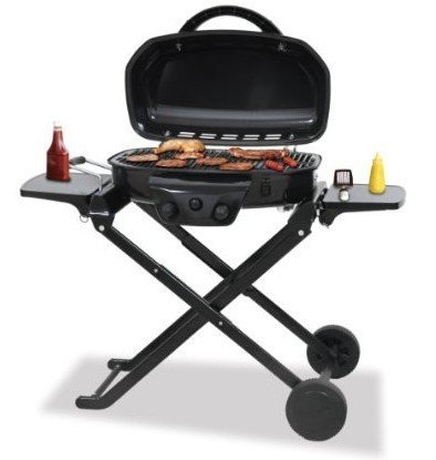 Uniflame Tailgate LP Gas BBQ Grill With Foldable Cart !