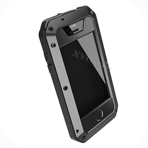 HOT Aluminum Metal Extreme Shockproof Military Heavy Duty Gorilla Glass Cover Case Skin for Apple iPhone 4 4S @XYG