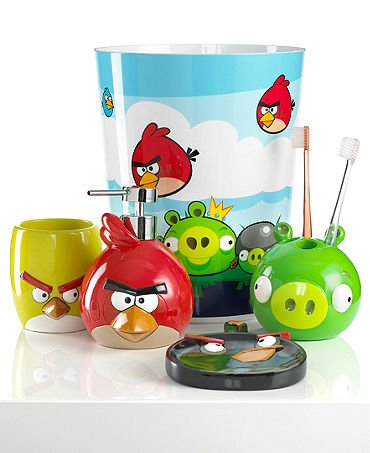 Angry birds bathroom