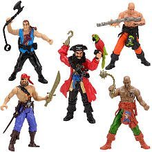 True-Heroes-45-Inch-Action-Figure-Pirate-Crew-with-Blue-Pirate-Captain-5-Pack