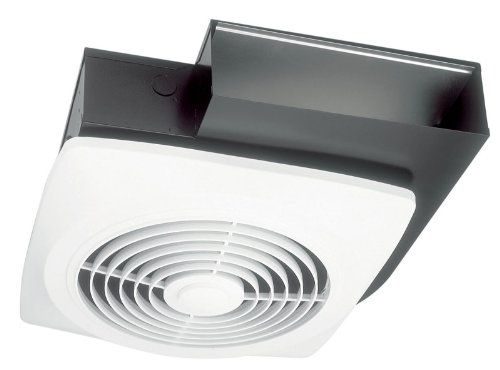 Broan Model 502 10-Inch Wall-Ceiling Mount Side Discharge Utility Fan, 270 Cfm, 8.0 Sones