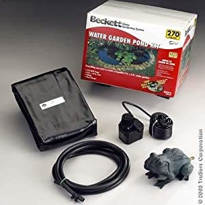 Beckett 7094510 small water garden kit for Small pond kits