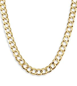 New 14k Solid Gold Cuban Curb Chain Link Necklace 9.1mm
