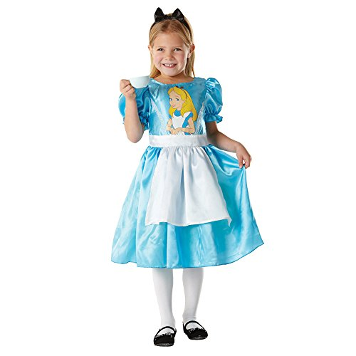 DISNEY ALICE IN WONDERLAND CLASSIC CHILDRENS FANCY DRESS PARTY HALLOWEEN COSTUME