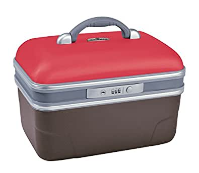 Savebag - Vanity rigide 34 cm - Couleur : framboise/taupe - Capacité : 13 Litres