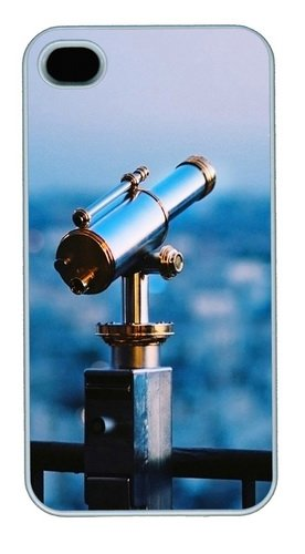 Iphone 4S Case And Cover - Astronomical Telescope Pc Case For Iphone 4 And Iphone 4S White