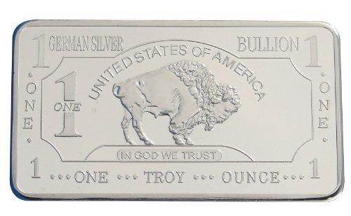 1-troy-ounce-999-100-mills-silver-clad-ingot-us-american-buffalo-bar-design-german-mint