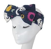 WIIPU bowknot hair band super beautiful Tulle Bow Headband (N67)dark blue