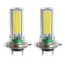See Zweihnder H7 24W 2300lm 6000-6500K 4xCOB LED White Light Bulb for Car Foglight (12-24V,2 Pieces) Details