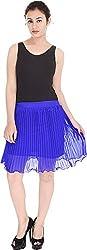 Soundarya Women's Regular Fit Skirt (Blue, 24)