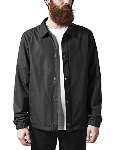Urban Classics Coach Jacket, Giacca Uomo, Nero (Black 7), Large