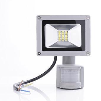 1 pcs projecteur smd led led 20w spot lampe avec d tecteur de de mouvement en blanc froid. Black Bedroom Furniture Sets. Home Design Ideas