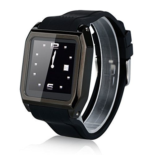 """EXCELVAN SW-530D 1.54"""" Hands-free Smart Watch Pedometer GSM Mobile Phone Bluetooth for AT&T T-Mobile Straight Talk (Black)"""
