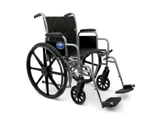 Medline K1 Basic Swing Away Foot Wheelchairs, RDLA, 18 Inch
