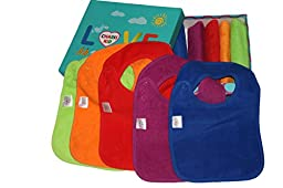 BEST Baby Teething Bibs With Snaps Closure (10 Pack) Waterproof 100% Terry Cotton Colorful Dribble & Teething Unique Drooler Bibs Set - Perfect For Baby Registry Baby Shower Gift Basket By CHARIS KID