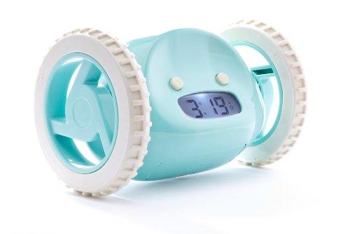 Clocky der wegrollende Alarm Wecker Aqua
