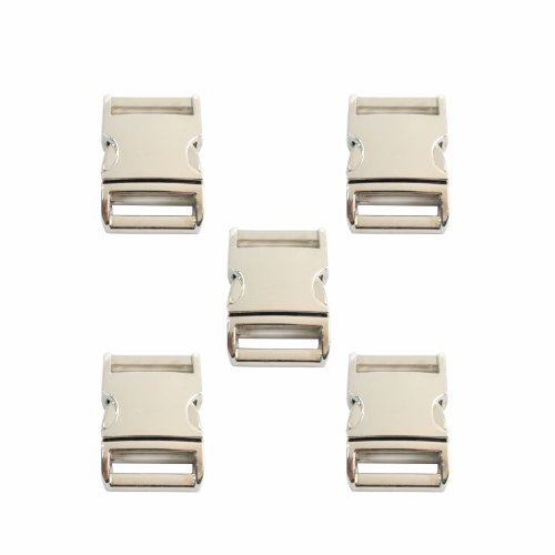 Bluecell Flat Silver Color Metal Side Release Buckles (3/4