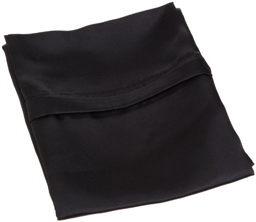 Royal Opulance Zippered Satin Pillow Case, Black