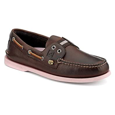 Sperry Top-Sider Men's A/O Gore Colored Sole,Brown/Pink Tumbled Leather,US 8 M
