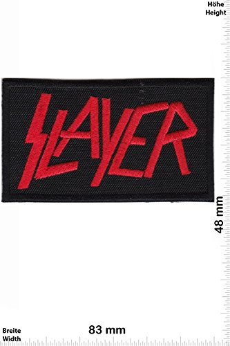 Patch - Slayer - red - Thrash-Metal-Band - MusicPatch - Rock - Chaleco - toppa - applicazione - Ricamato termo-adesivo - Give Away