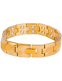 ANVI JEWELLERS 18CT GOLD AND RODIUM PLATED BIO-MAGNETIC BRACELET AT SPECIAL PRICE
