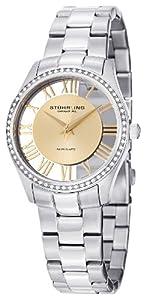 Stuhrling Original Women's 750L.04 Classic Ciara Analog Display Swiss Quartz Silver Watch