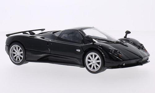 pagani-zonda-f-schwarz-carbon-modellauto-fertigmodell-motormax-124