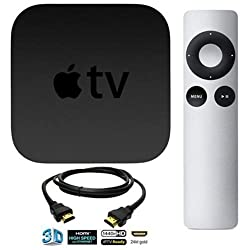 Apple TV 3 (the latest 2014 version) with HDMI cable 6.5 ft + FREE BONUS SUPPORT OFFER
