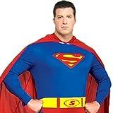 【福美康】スーパーマンコスチュームコスプレ衣装ハロウィンクリスマスイベントsuperman忘年会仮装誕生日(スーパーマン,170cm)