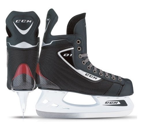 CCM U+ 01 Ice Hockey Skates - Junior Size 5 + Free Lace Tightener