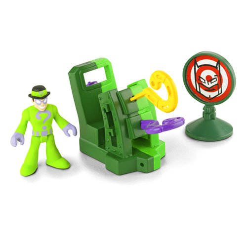 : Imaginext DC Super Friends Mini Figure The Riddler with Question Mark Launcher & Target
