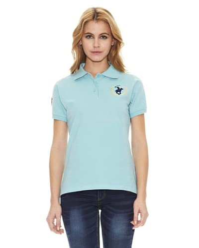 Polo Club Polo Custom Fit Logo Big Azul Celeste